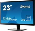 Монитор жидкокристаллический Iiyama Монитор LCD 23'' [16:9] 1920х1080 IPS, nonGLARE, 250cd/m2, H178°/V178°, 1000:1, 5М:1, 16,7M Color, 5ms, VGA, DVI, HDMI, Tilt, Speakers, 3Y, Black