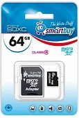 SMART BUY microSDHC 64Gb Class10+ SD adapters